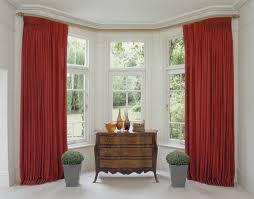 bay window curtains and track pole