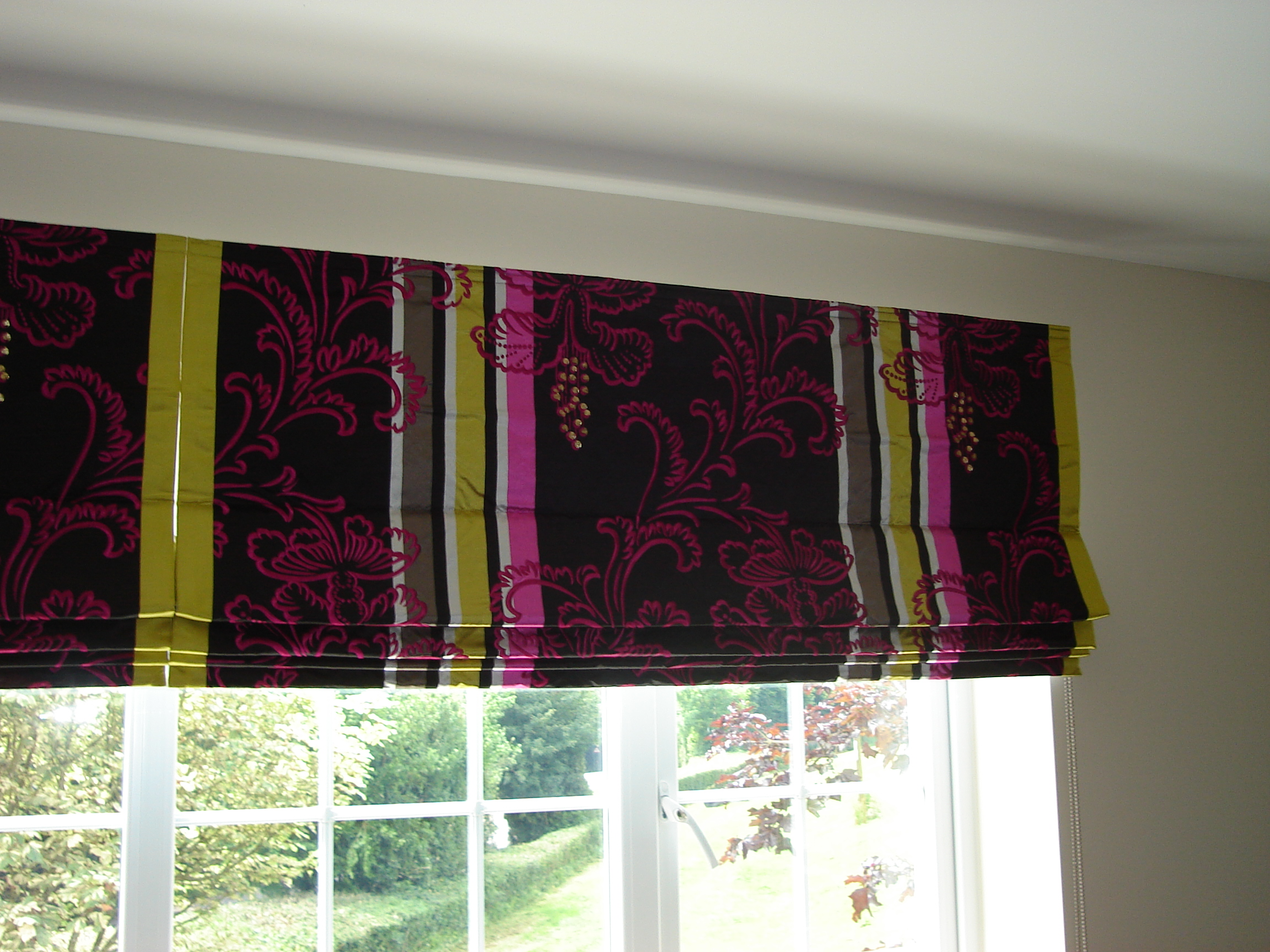 designers guild embroidered silk fabric roman blind