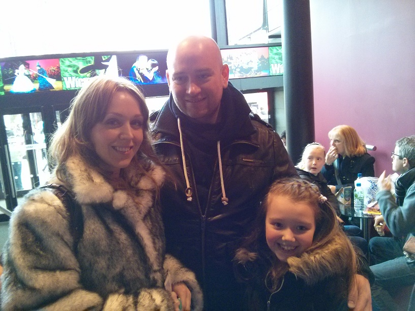 family waiting for the panto