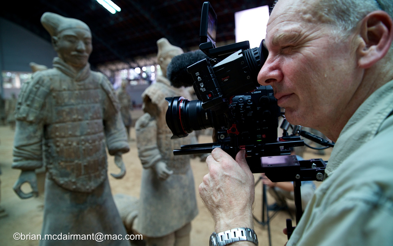 On location in China