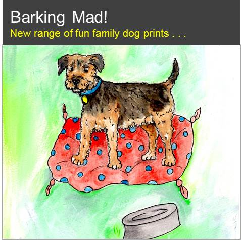 Barking Mad! New range of fun family dog prints