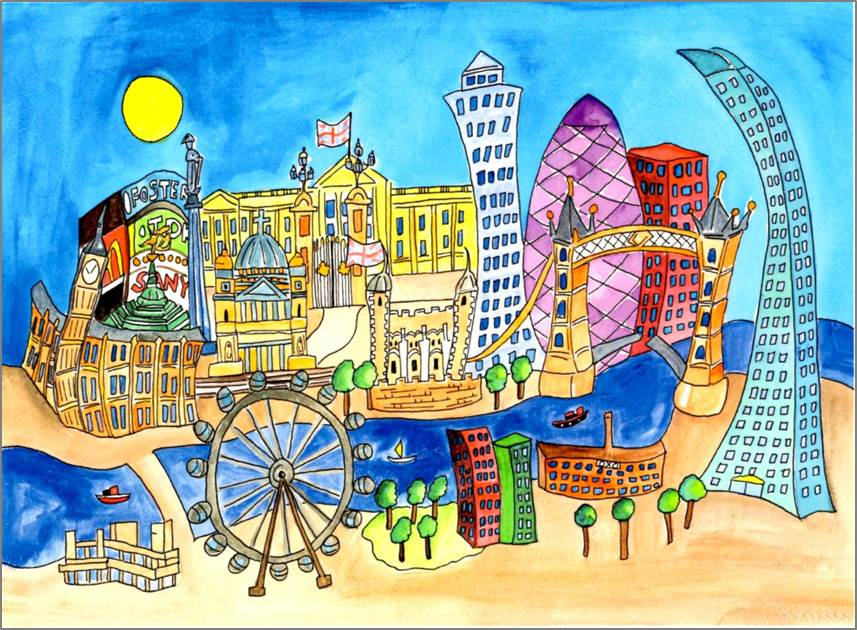 London - Picadilly print by Sarah Collins