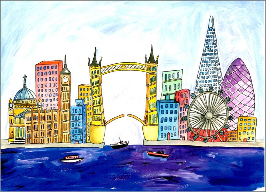 London - Tower Bridge print by Sarah Collins
