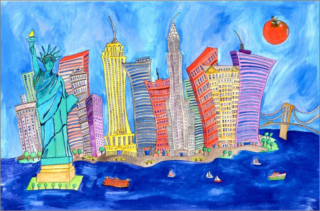 New York Print by Sarah Collins