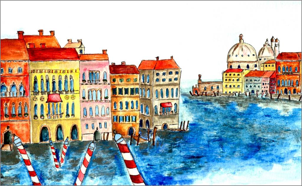 Venice - Grand Canal print by Sarah Collins