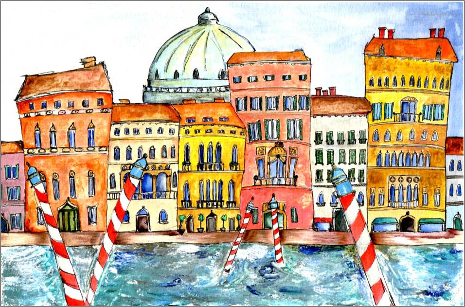 Venice - The Dome print by Sarah Collins