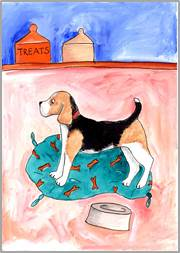 Beagle print by Sarah Collins