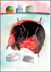 Black Labrador print by Sarah Collins