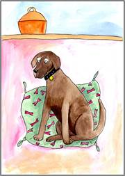 Chocolate Lab print by Sarah Collins