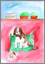 Brown Spaniel print by Sarah Collins