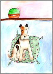Fox Terrier print by Sarah Collins