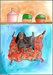 King Charles Spaniel print by Sarah Collins
