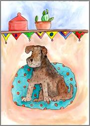Welsh Terrier print by Sarah Collins