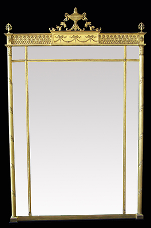 Adam over mantle mirror. Made by Ruth Tappin