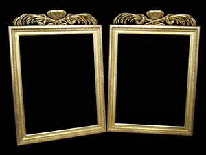 pair of restored picture frames