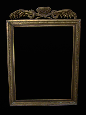 picture frame before restoration