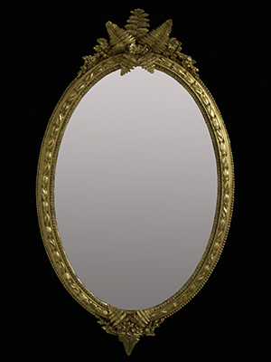 Fern oval mirror. Made by Ruth Tappin