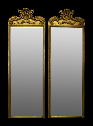 Hardwick pier mirror pair 2. Made by Ruth Tappin
