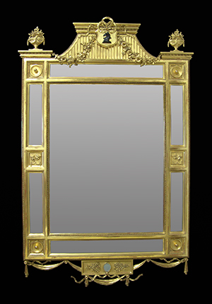 Margin wall mirror. Made by Ruth Tappin