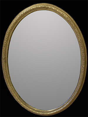 Oval mirror. Made by Ruth Tappin