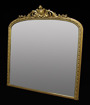 Over mantle mirror, made by Ruth Tappin.