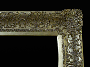 gold picture frame restored