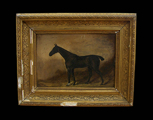 small picture frame before restoration