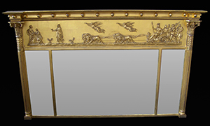tripple plate mirror gilded. Made by Ruth Tappin