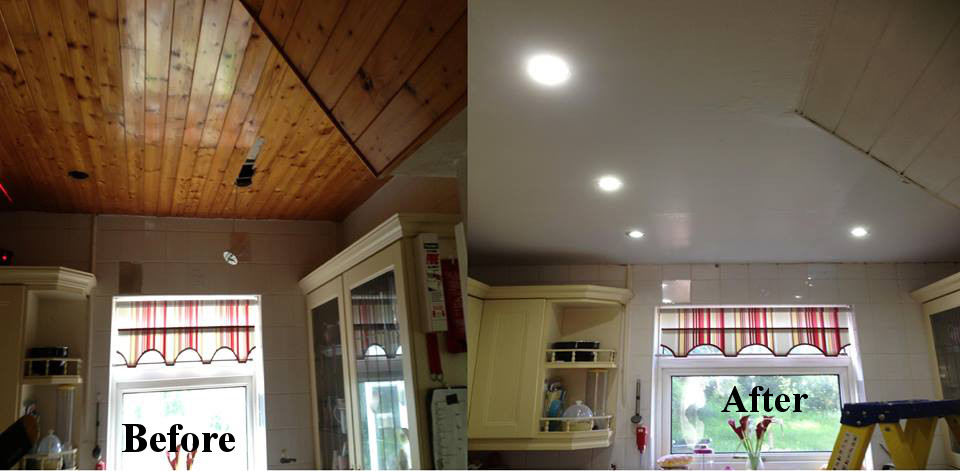 Installed a reinfored ceiling, along with LED lighting