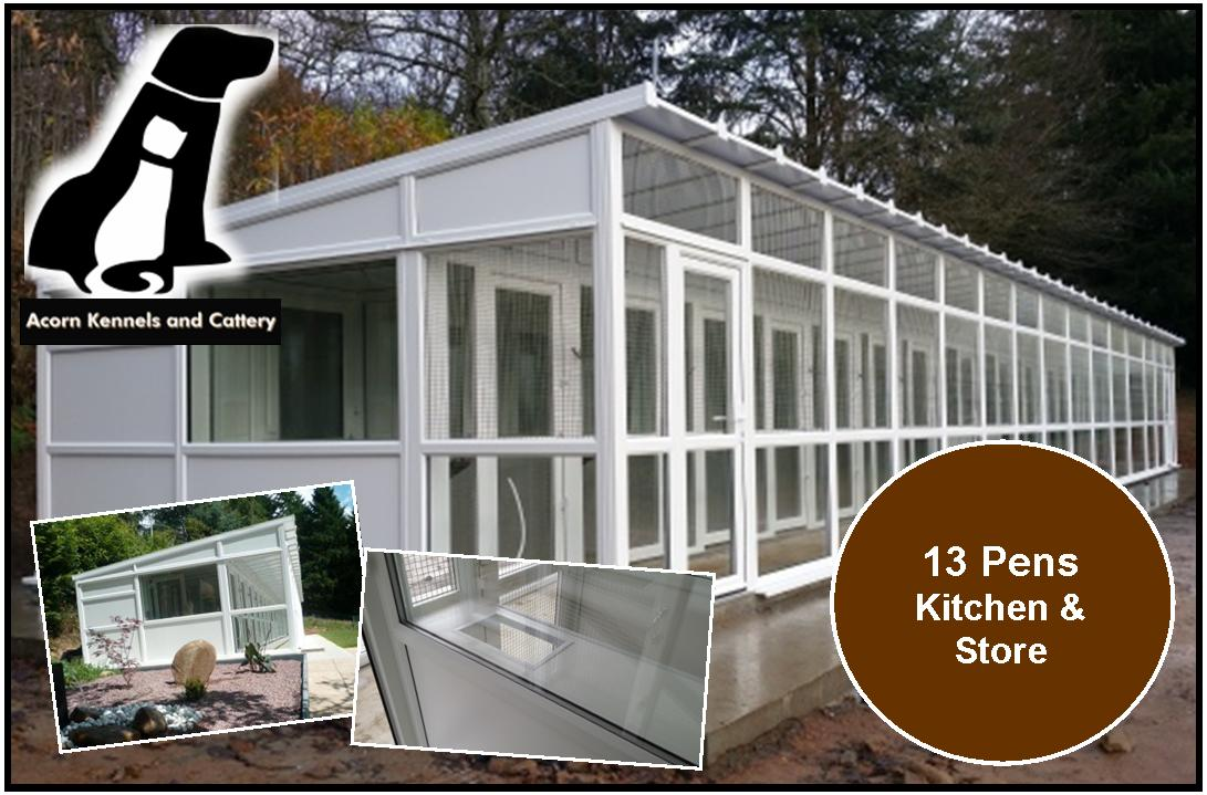 Peticular Pens - Bespoke uPVC Cattery - Acorn Kennels and Cattery