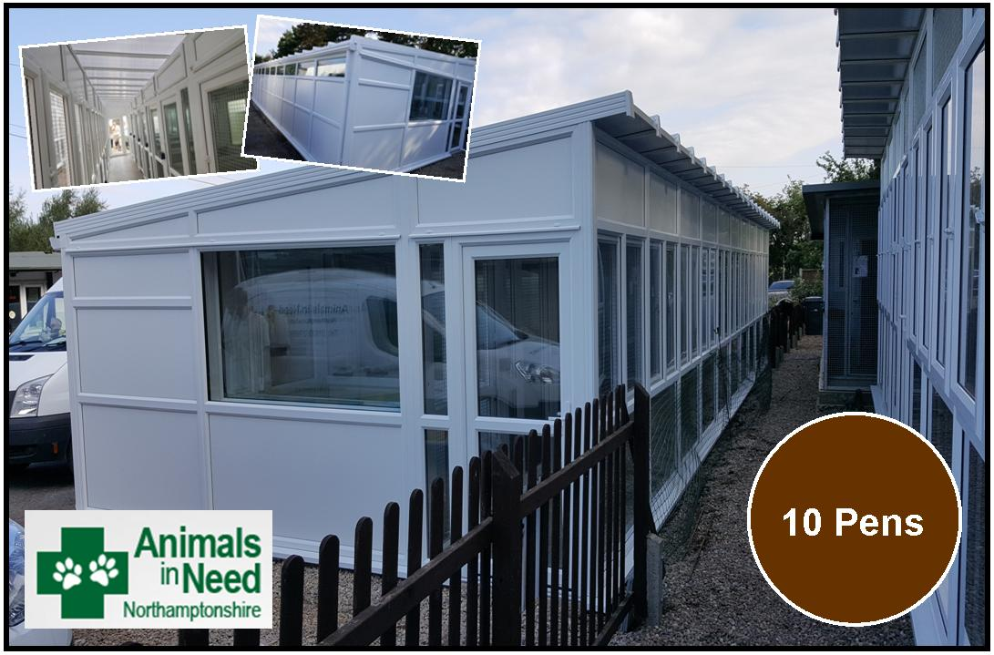Peticular Pens - Bespoke uPVC Cattery -  Animals in Need Northamptonshire