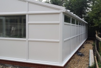 Peticular Pens - Hygienic uPVC Cattery - Clay Hill Cattery - Side