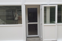 Peticular Pens - Bespoke Plastic Cattery - Clay Hill Cattery - Safety Door