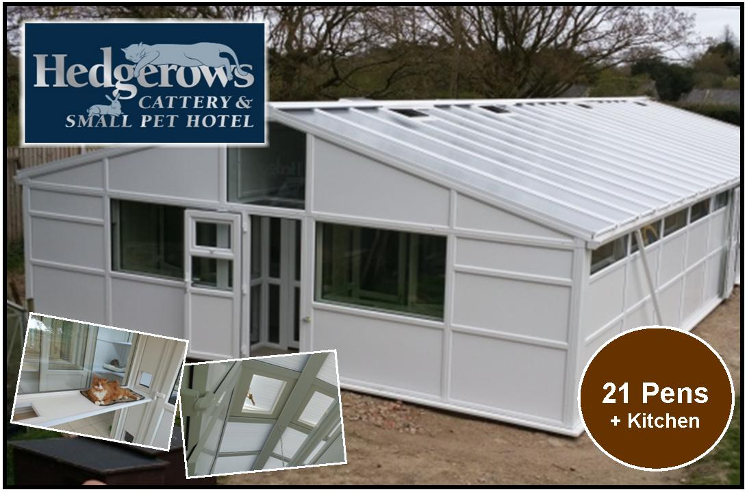 Peticular Pens - Bespoke uPVC Cattery -  Hedgerows Cattery and Small Pet Hotel