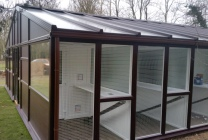 Peticular Pens - Bespoke uPVC Cattery - Hilltop Boarding Kennels and Cat Hotel - Side
