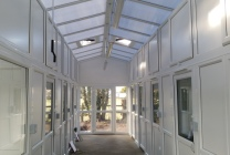Peticular Pens - Bespoke uPVC Cattery - Hilltop Boarding Kennels and Cat Hotel - Safety Corridor
