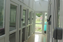 Peticular Pens - Hygienic uPVC Cattery - Hedgerows Cattery & Small Pet Hotel Safety Corridor