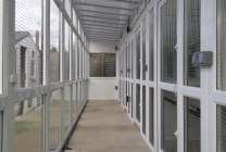Peticular Pens - Hygienic uPVC Cattery - Katz Whiskerz Luxury Cattery - Safety Corridor