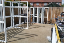 Peticular Pens - Bespoke uPVC Cattery - Katz Whiskerz Luxury Cattery - Build