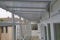 Peticular Pens - Bespoke uPVC Cattery - Katz Whiskerz Luxury Cattery - Safety Corridor