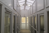 Peticular Pens - Hygienic uPVC Cattery - RSPCA Leeds & Wakefield Rescue - Safety Corridor