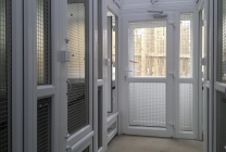 Peticular Pens - Bespoke uPVC Cattery - RSPCA Leeds & Wakefield Rescue - Safety Corridor