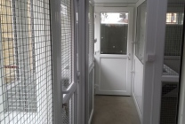 Peticular Pens - Bespoke uPVC Cattery - RSPCA Leeds & Wakefield Rescue - Pen View