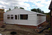 Peticular Pens - Hygienic uPVC Cattery - RSPCA Leeds & Wakefield Rescue - Front View