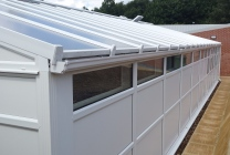Peticular Pens - Hygienic uPVC Cattery - RSPCA Leeds & Wakefield Rescue - Side View