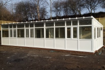 Peticular Pens - Hygienic uPVC Cattery - RSPCA Leeds & Wakefield Isolation - Front