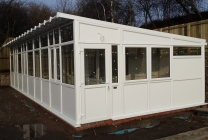 Peticular Pens - Hygienic uPVC Cattery - RSPCA Leeds & Wakefield Isolation - Side View