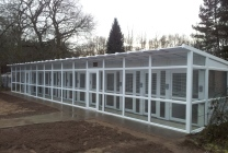 Peticular Pens - Hygienic uPVC Cattery - RSPCA Martlesham - Front View