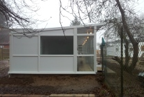 Peticular Pens - Hygienic uPVC Cattery - RSPCA Martlesham - Side View