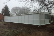 Peticular Pens - Hygienic uPVC Cattery - RSPCA Martlesham - Rear View